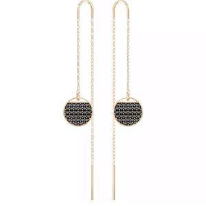 Swarovski Ginger Chain Threader earrings rose gold